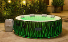 6 Person Inflatable Hot Tub Spa Saluspa with LED LightsPillowsPumpRemote Cont