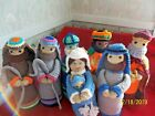 Christmas Nativity Scene  Hand Knitted  8 Piece  9 10 Tall NEW