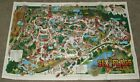Vintage Six Flags Over Texas Park Map 1987 1991 30th Anniversary Amusement Theme