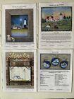 DIY Arts  Crafts Lot of 4 Lighthouse  Ornament Tole Painting Pattern Projects