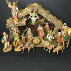 Fontanini Vintage 5 Nativity Set 20 Figures 1 Wood Stable Complete Collection