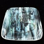 Vintage Fused Art Glass Tray Dish Bowl Artist Signed Blown Multi Color 975D