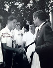 BILL CLINTON SIGNED 11x14 PHOTO WITH JOHN F. KENNEDY ICONIC RARE IMAGE PSA DNA