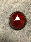 VINTAGE BICYCLE GLASS JEWEL DIAMOND CUT 2 1 4 RED ROUND REFLECTOR