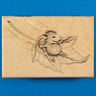House Mouse Fall Flight Rubber Stamp Flying Fall Autumn Leaf Travel Stampendous