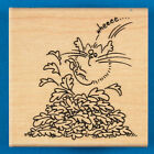 Fluffles Leap Rubber Stamp by Stampendous Fluffles the Cat Autumn Fall Leaves