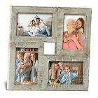 4x6 Picture Frame Collage Rustic Farmhouse Collage Photo Frames Rustic White