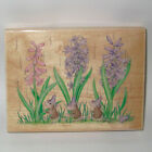 Stampabilities House Mouse Rubber Stamp WALKING IN THE RAIN Color Wood Mounted