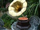 Gramophone With Brass Horn Record Player Phonograph 78 Vinyl Hexagon Shape props
