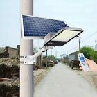 150W Commercial Solar Street Light LED Outdoor Dusk Dawn Road Lamp+Pole+Remote