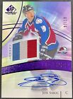 2020-21 SP Game Used Joe Sakic Purple Legends Game Used Jersey Patch Auto 10