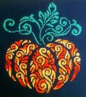 Pumpkin 11 x 95 Finished Completed Cross Stitch Piece