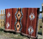 Large Indian Navajo Tribe Accent Rug Cotton Throw Camping Picnic Blanket Vanlife