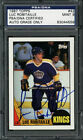 1987-88 Topps #42 Luc Robitaille Auto PSA DNA Mint 9