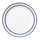 CORELLE CLASSIC CAFE BLUE 8 1/2 LUNCH PLATES ~ VHTF NEW