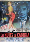 THE NIGHTS OF CABIRIA 1957 47x63 poster linen Fellini
