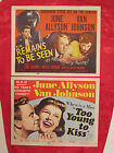 TOO YOUNG TO KISS - TWO JUNE ALLYSON  MGM TITLE LOBBY CARDS