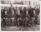 1932 President HERBERT HOOVER + Cabinet Wire Photograph