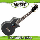 New Mahalo Black LP Shaped Soprano Ukulele with Bag ULP1BK