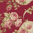 RJR Robyn Pandolph Bowood House Red Floral Shabby Rose Fabric Christmas 5C