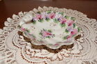 VINTAGE....ESTATE....CERAMIC.....PINK & PURPLE FLOWERED.......DISH