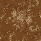 RJR Robyn Pandolph Bowood House Chocolate Brown Floral Tonal Fabric Rose