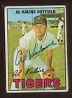 1967 TOPPS #30 AL KALINE TIGERS HALL OF FAME RIGHT FIELD SIGNED CARD AUTO