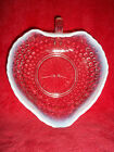 1940's MOONSTONE OPALESCENT HOBNAIL RUFFLED HEART CANDY DISH ANCHOR HOCKING