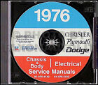 1976 Dodge Plymouth Chrysler Shop Manual Set on CD 76 Repair Service