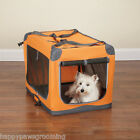 Guardian Gear HEAVYDUTY Collapsible Soft Sided Portable Dog Crate CageSMORANGE