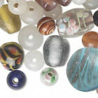 Glass Beads Lampwork Mixed Colors Handmade Jewelry Craft Lot of 50