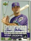 2003 UPPER DECK CONOR JACKSON ROOKIE AUTOGRAPH BOSTON RED SOX