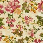 Robyn Pandolph Cambridge Pink Green Cream Floral Giselle Rose Leaf Quilt Fabric