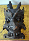 Old Antique Tribal Mask Devil Demon Black Magic Witchcraft Occult Museum Quality