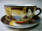 1930s VINTAGE JAPANESE HAND PAINTED CUP & SAUCER, SIGNED