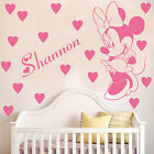 Minnie Mouse Wall Sticker With Personalised Bespoke Name Decal Vinyl Kids