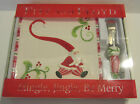 2006 FITZ AND FLOYD INC MINGLE JINGLE BE MERRY SNACK PLATE W/SPREADER