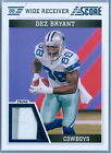 DEZ BRYANT 2011 SCORE GAME USED JERSEY PATCH SP
