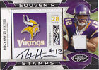 2009 PERCY HARVIN AUTO JERSEY RC 10 20 CERTIFIED SOUVENIR STAMP #24