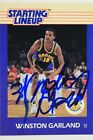 Warriors Winston Garland Auto Signed 1988/89 Starting Lineup Statue Card  RARE K