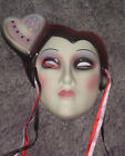 CLAY ART CERAMIC MASK.....HEART.....EXTREMELY RARE!