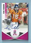TIM TEBOW 2011 GRIDIRON GEAR BLACK FRIDAY BREAST CANCER AWARENESS AUTOGRAPH 25