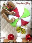~ Primitive Christmas Gingerbread Peppermint Spindle Make Do!  ~  PATTERN #245