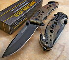 TAC-FORCE Speedster Assisted Opening OD GREEN CAMO Glass Breaker Knife NEW!!
