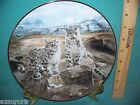 CHARLES FRACE'  SNOW LEOPARDS WILD CAT COLLECTOR PLATE BRADEX BRADFORD  /CERT