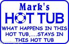 Personalized What Happens Here Hot Tub Swim Pool Metal Gift Sign 5 Custom USA M