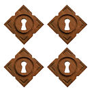 4349-4 VICTORIAN WALNUT KEYHOLE COVER, Lot of 4. *MAKE OFFER FOR 2 or MORE
