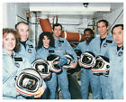SHUTTLE CHALLENGER STS 51L CREW AFTER COUNTDOWN DEMO TEST 8X10 PHOTO EP 458