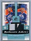 2010-11 HEMSKY PENNER UD SP GAME USED FABRICS DUAL PATCHES #AF2-HP OILERS #18 25