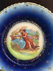 AUSTRIA PLATE VINTAGE CABINET PLATE WITH GILT DECOR AND MAIDENS IN THE MIDDLE